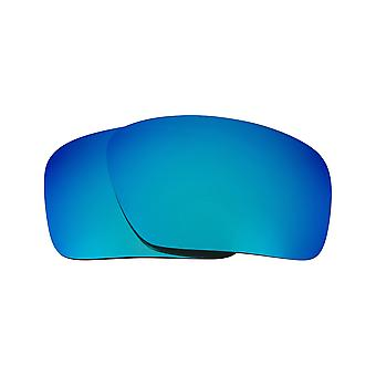 SEEK Replacement Lenses Compatible for Oakley Triggerman Polarized Blue Mirror