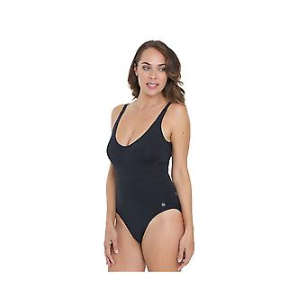 Seaspray SY007062 Women's Black Solid Colour Costume One Piece Swimsuit
