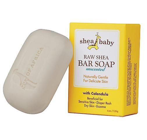Shea Baby Bar Soap Unscented with Calendula 2 Bar Pack