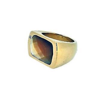 Misaki unisexe anneau en acier inoxydable or Gr. 56 BLONDIE QCURBLONDIE56