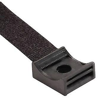 Hebotec 3011-004 Hook-and-loop mount screw-on Black 1 pc(s)