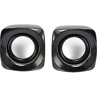 Basetech S181 2.0 PC speaker Corded 6 W Black