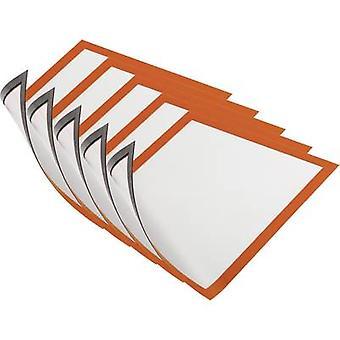 Durável 486909 DURAFRAME magnético A4-4869 moldura magnética A4 laranja (W x H) 238 mm x 324 mm 5 PC (s)