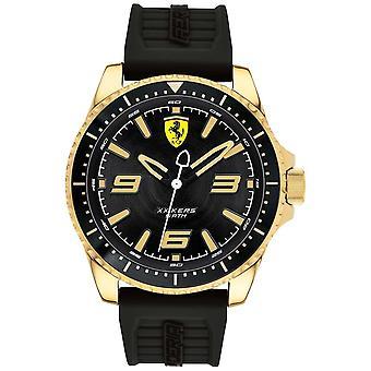 Scuderia Ferrari Mens XX Kers Gold Plated Case Rubber Strap 0830485 Watch