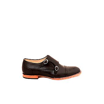 Handcrafted Premium Leather Berenice Black Monk Shoe