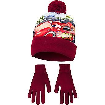 Disney Cars Childrens jongens topsnelheid Winter muts en handschoenen instellen