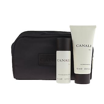 Canali Men After Shave Spray And Shower Gel 2 Piece Set With Bag
