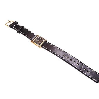 VincencE gold watch with leather strap