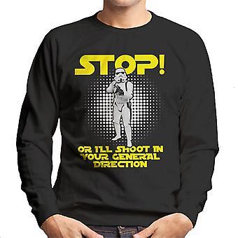 Alkuperäinen Stormtrooper Stop tai ammun miesten svetaripaita