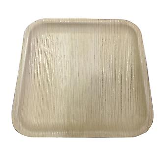 Respetuoso del medio ambiente platos desechables fiestas - 25cm cuadrados {25 placas}