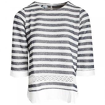 Vlt's By Valentina's Three Quarter Sleeve Stripped Top