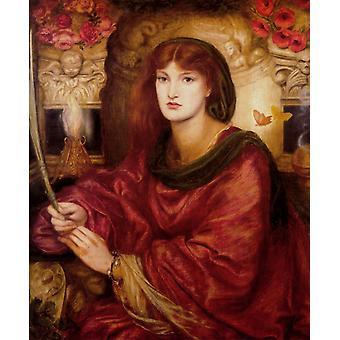 Sibylla Palmifera,Dante Gabriel Rossetti,60x50cm