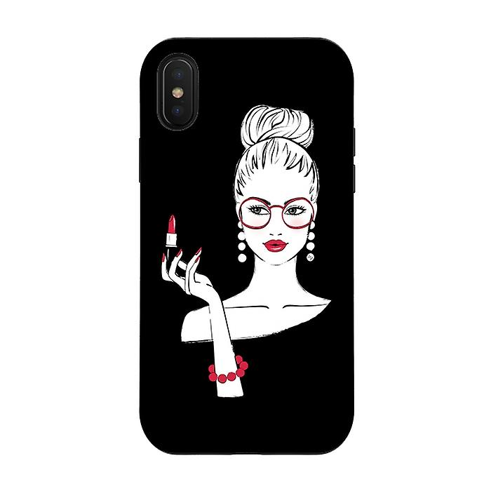 ArtsCase Designers Cases LADY LIPSTICK for Tough iPhone Xs / X