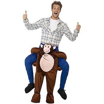 Piggyback apina puku, Brown, yksiosainen puku pilkata jalat