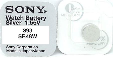Sony 393 (sr48w) 1.55v Silver Oxide Watch (0%hg) Mercury Free Battery - Made In Japan