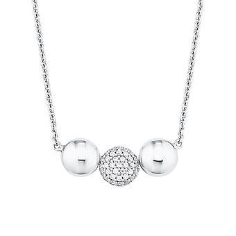 s.Oliver Jewel Damen Kette Halskette Silber Zirkonia 2024212