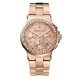 Michael Kors Mini Dylan Rose Gold Chronograph Ladies Watch MK5586