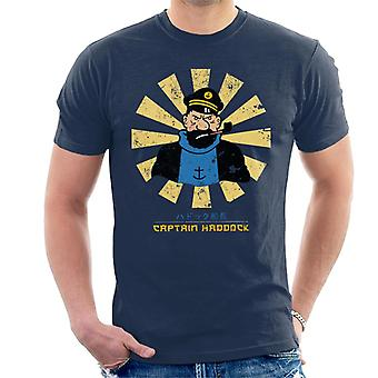 Captain Haddock Retro Japanese Tintin Men's T-Shirt