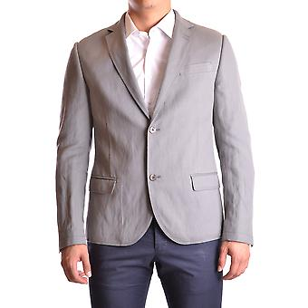 Daniele Alessandrini Ezbc107098 Men's Grey Cotton Blazer