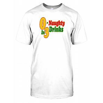0 - frech In 3 Getränke - Funny zitieren Herren-T-Shirt
