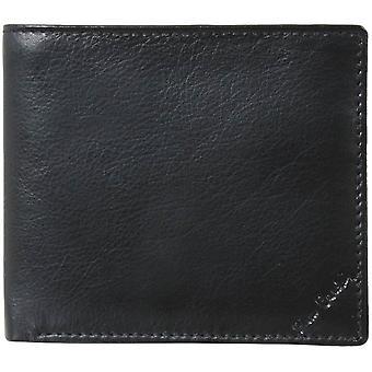 Pierre Cardin portafoglio dell'anca di carta di credito in pelle - nero