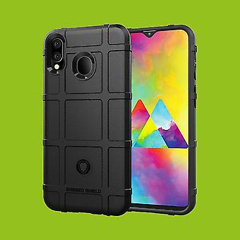 För Samsung Galaxy M20 6,3 tum sköld serie utomhus svart väska fallet täcker skydd nya