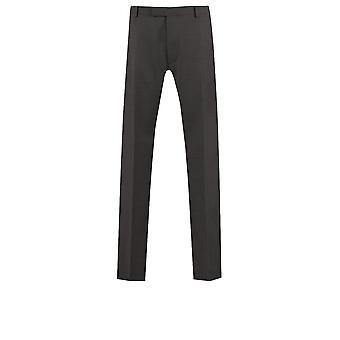 Kenneths Herre trækul Pindot Tuxedo bukser Slim Fit Satin Side stribe