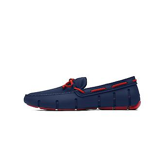 Swims Navy & Red Alert Braided Lace Loafer