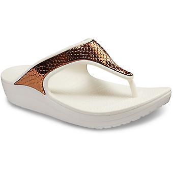 Crocs naisten Sloane metallinen teksti lipsahdus flip flop sandaalit