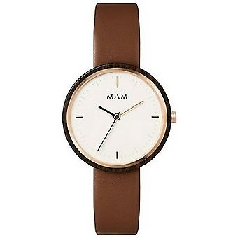 MAM Plano Small Watch - Brown/White