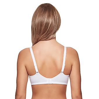 Susa 8108-3 Women's Capri White Non-Padded Non-Wired Support Coverage Moulded Full Cup Bra