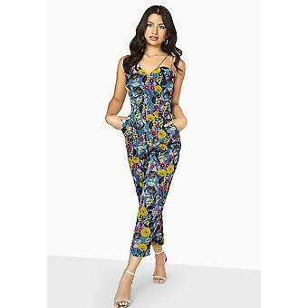 Girls On Film Womens/Ladies Florence Sweetheart Floral Jumpsuit