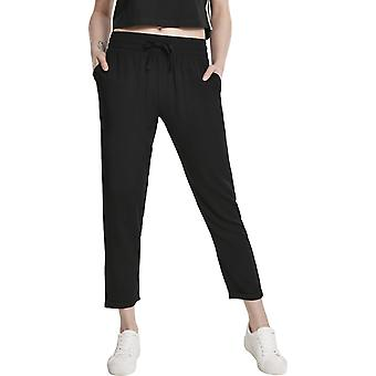 Urban Classics Ladies-Elastic Waist Pants Black