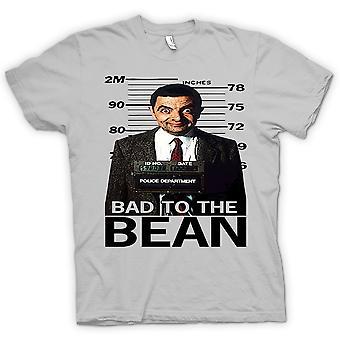 Mens T-shirt - Mr Bean Bad To Bean Mug Shot - Comedy