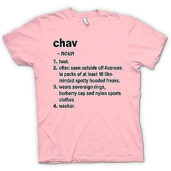 Womens T-shirt - Chav Defination - Brilliantly Funny Dictionary