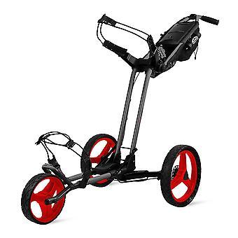 Sun Mountain Pathfinder 3 Wheel Push Golf Trolley Cart Magnetic Grey/Red