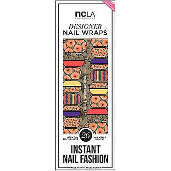 ncLA Los Angeles Instant Nail Fashion Designer Nail Wraps - captured Reflexion (26 Wraps)