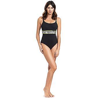Féraud 3195315-10995 Frauen's Voyage schwarz Kostüm ein Stück Badeanzug