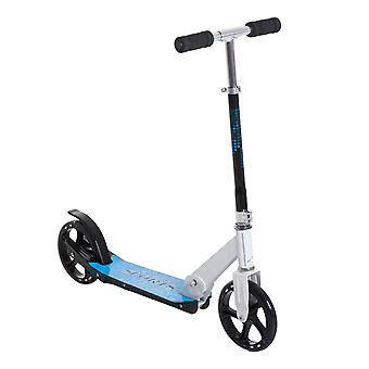 HOMCOM Aluminium Kick Scooter Commuter Adjustable Height Ride On Wheels Foldable White