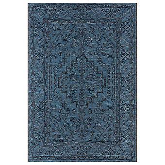 Design Indoor and Outdoor RugRos Azure Blue Anthracite