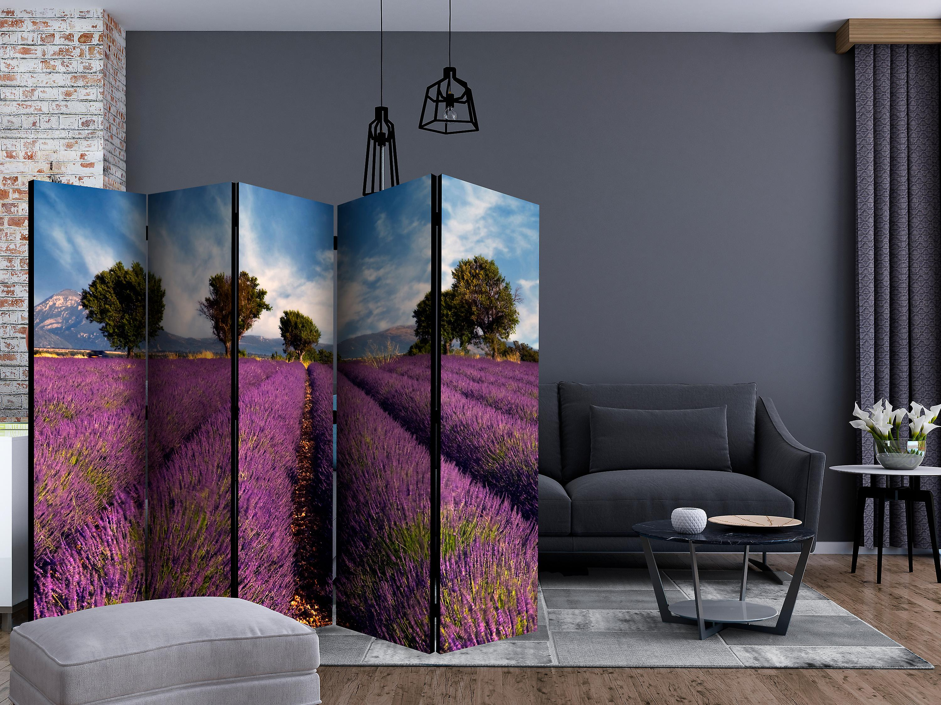 Paravent 5 volets - Lavender field in Provence, France [Room Dividers]