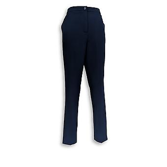 Linea by Louis Dell'Olio Women's Pants 10 Fly Front Slim Pants Blue A347452