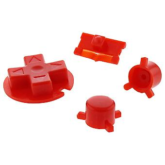 Replacement button set a b d-pad power switch for nintendo game boy pocket - red