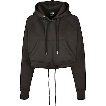 Urban Classics Women's Zip Hoodie Oversized Short Raglan