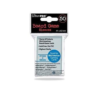 50 Ultra Pro 41 x 63 US Mini American Small Size Boardgame Sleeves 50 Ultra Pro 41 x 63 US Mini American Small Size Boardgame Sleeves 50 Ultra Pro 41 x 63 US Mini American Small Size Boardgame Sleeves 50