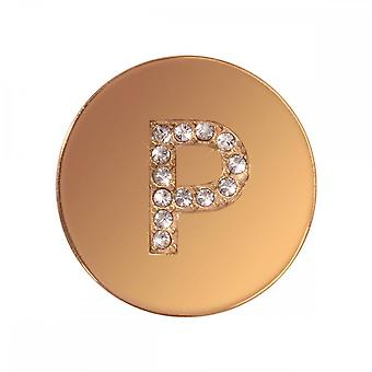 Nikki Lissoni Sparkling P Small Gold Plated Coin C1262GSP