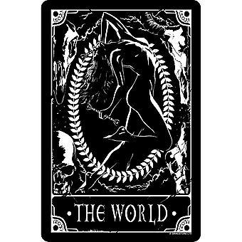 Deadly Tarot The World Tin Sign