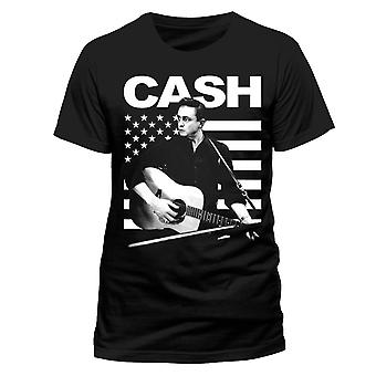 Johnny Cash-Guitar American T-Shirt