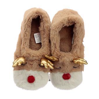 Puckator Heat Pack Slippers, Reindeer