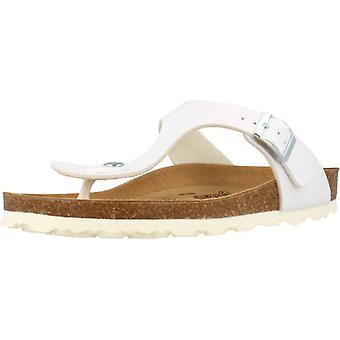 Gele winkel sandalen 78740 kleur wit